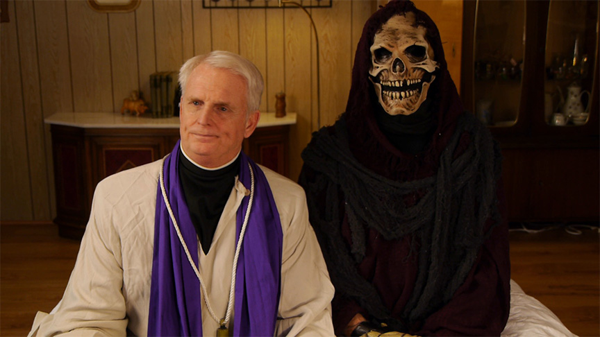 The Priest (John Chapman) and the Grim Reaper (Paris Dolph)