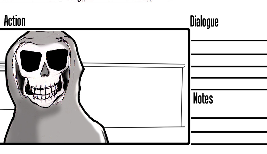 Story board  Waiting For Exit  Grim Reaper